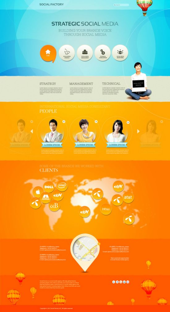 40 Inspirational Examples Of Orange Color In Web Design Beautiful Web Design Web Design Inspiration Web Design
