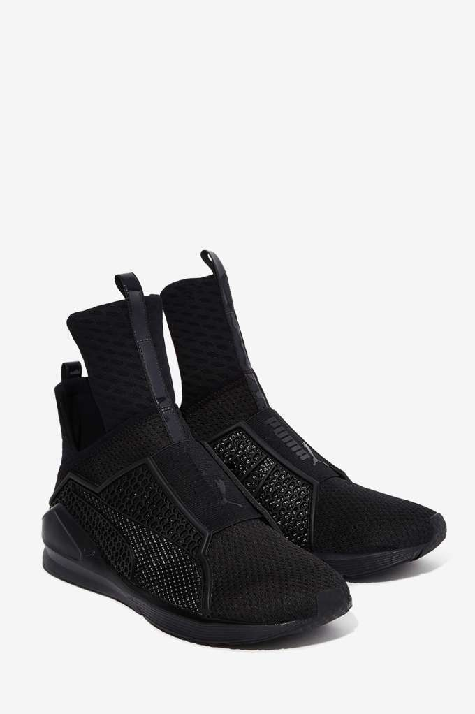 Puma Fenty Black Leather
