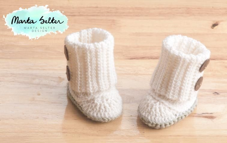 Baby Booties, sizes from 3-12 months | Craftsy: Free Pattern. | Baby ...