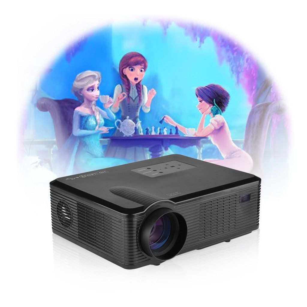 EXCELVAN 2400 Lumens Movie Projector LED LCD Projector for Video ...