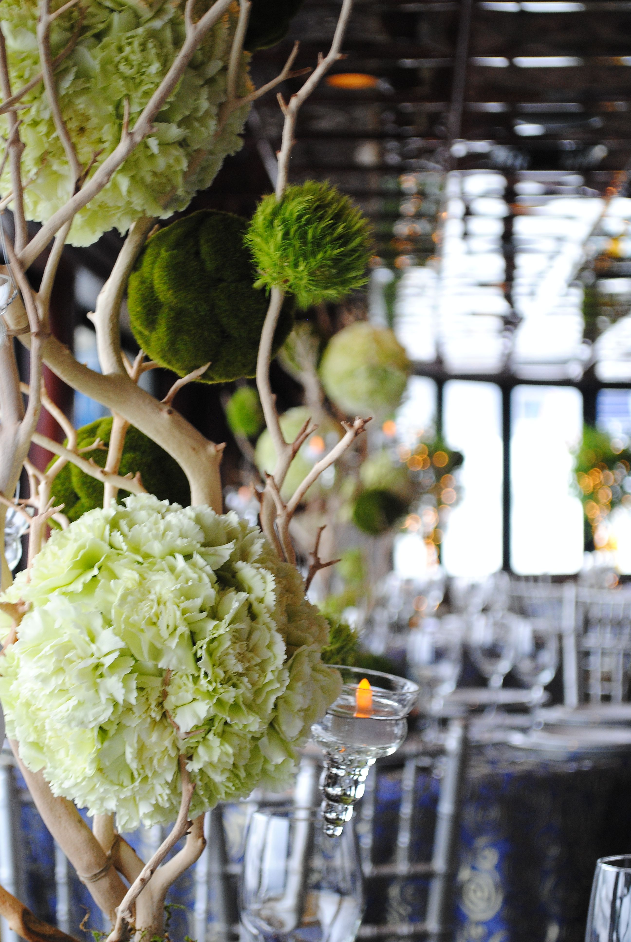 moss white flower arrangements Google Search White