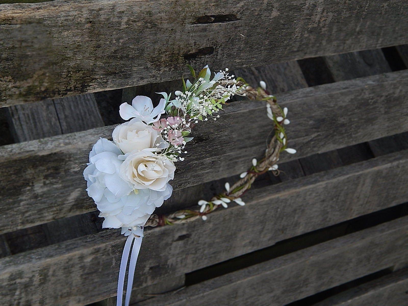 Wianek Na Glowe Opaska Kwiaty Do Wlosow Kwiatowy Wianek Slub Etsy Wedding Hair Wreath Hair Wreath Wedding Hairstyles