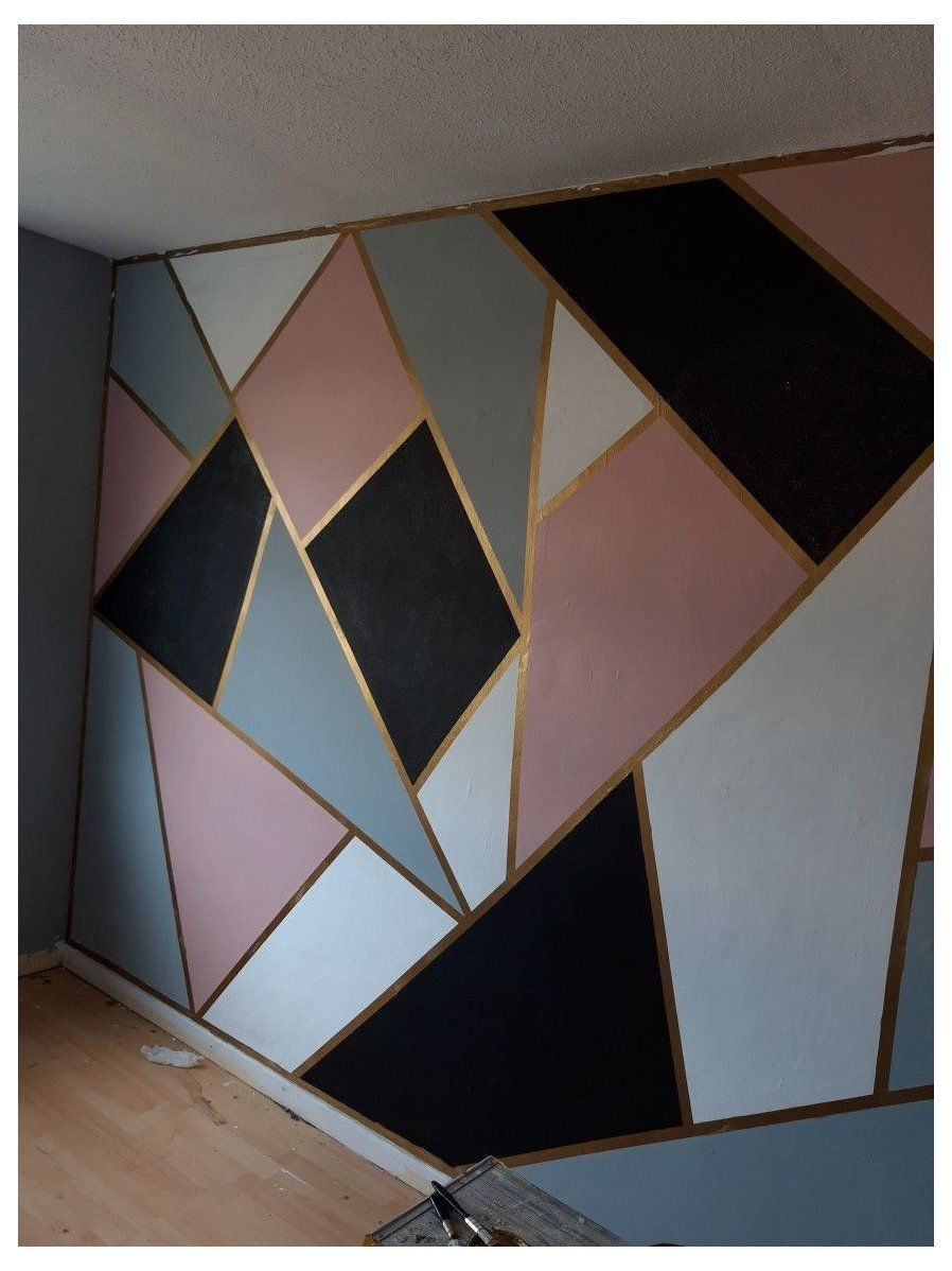 wall painting ideas bedroom teenager pink