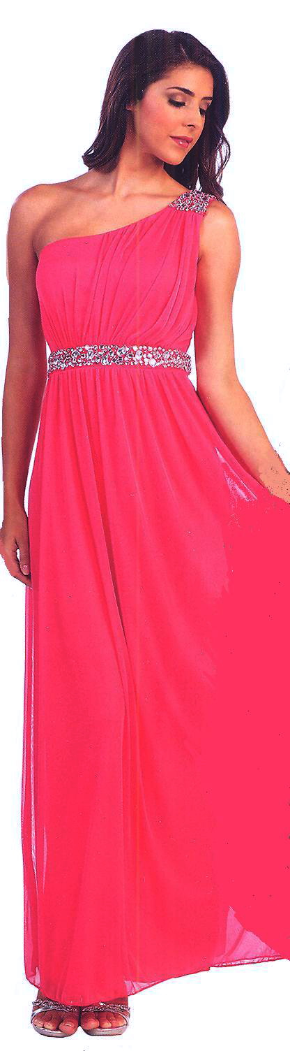 One shoulder long dresses under 100