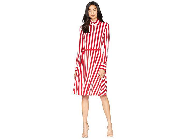 Norma Kamali Kamalikulture By Shirt Flared Dress To Knee Women S Dress Flare Dress Dresses Norma Kamali