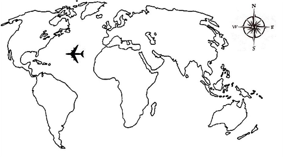 Airplane tattoos google search tattoos pinterest airplane education purpose world map coloring page printable color continents gumiabroncs Gallery