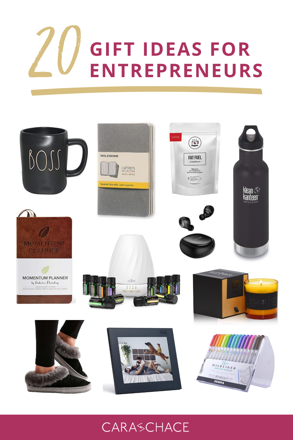 20 Gift Ideas For Entrepreneurs Cara Chace Gifts For Office Office Gifts Business Gifts