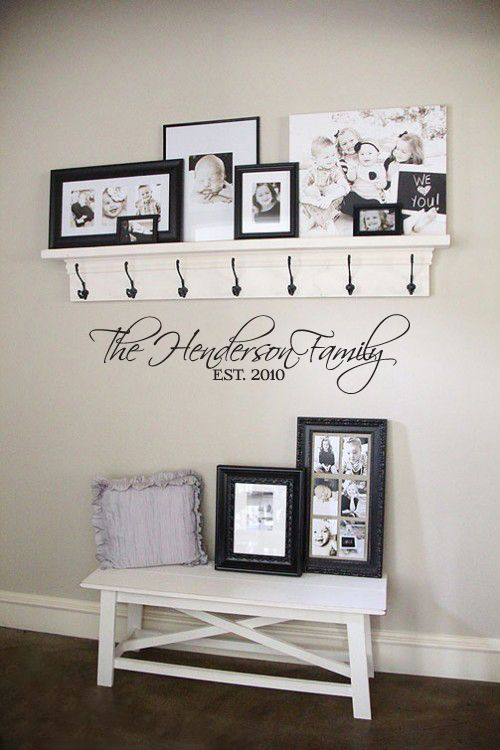 The Script Family Established Wall Decal Home Diy Decor Entryway Decor