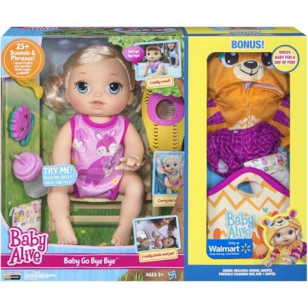 Baby Alive Clothes At Walmart Baby Alive Baby Go Bye Bye Blonde  Walmart Comes With Bonus