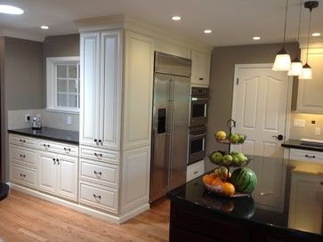 Chocolate Kitchen Cabinets With White Countertops