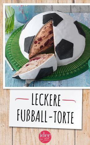 Fußball-Torte: Sauerkirsch-Traum mit Schoko-Biskuit