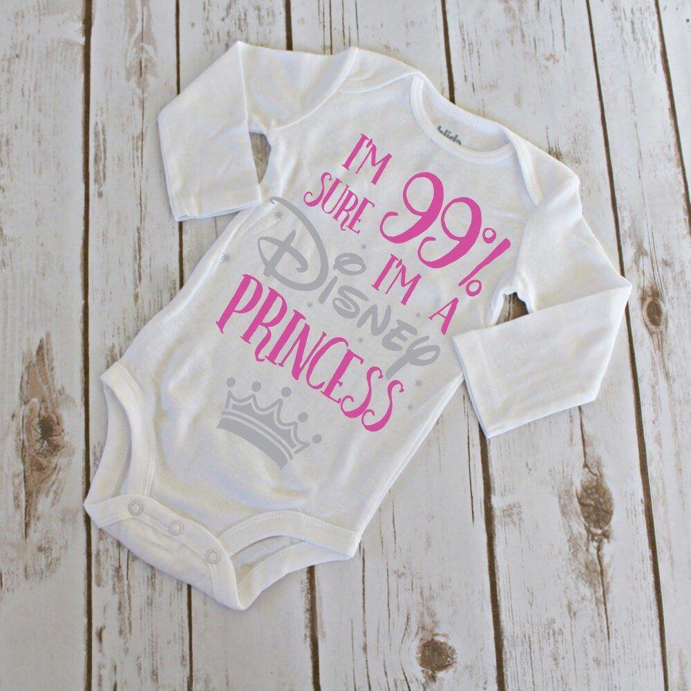 I/'m 99/% Sure I/'m A Disney Princess Newborn Baby Bodysuits