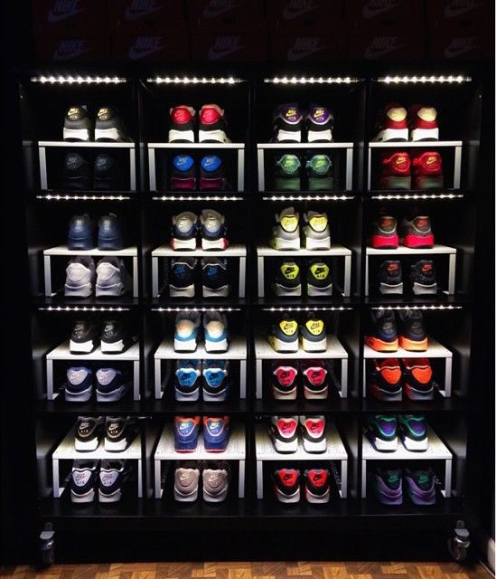 Awesome Do It Yourself Sneaker Display Shelf With Items From Ikea