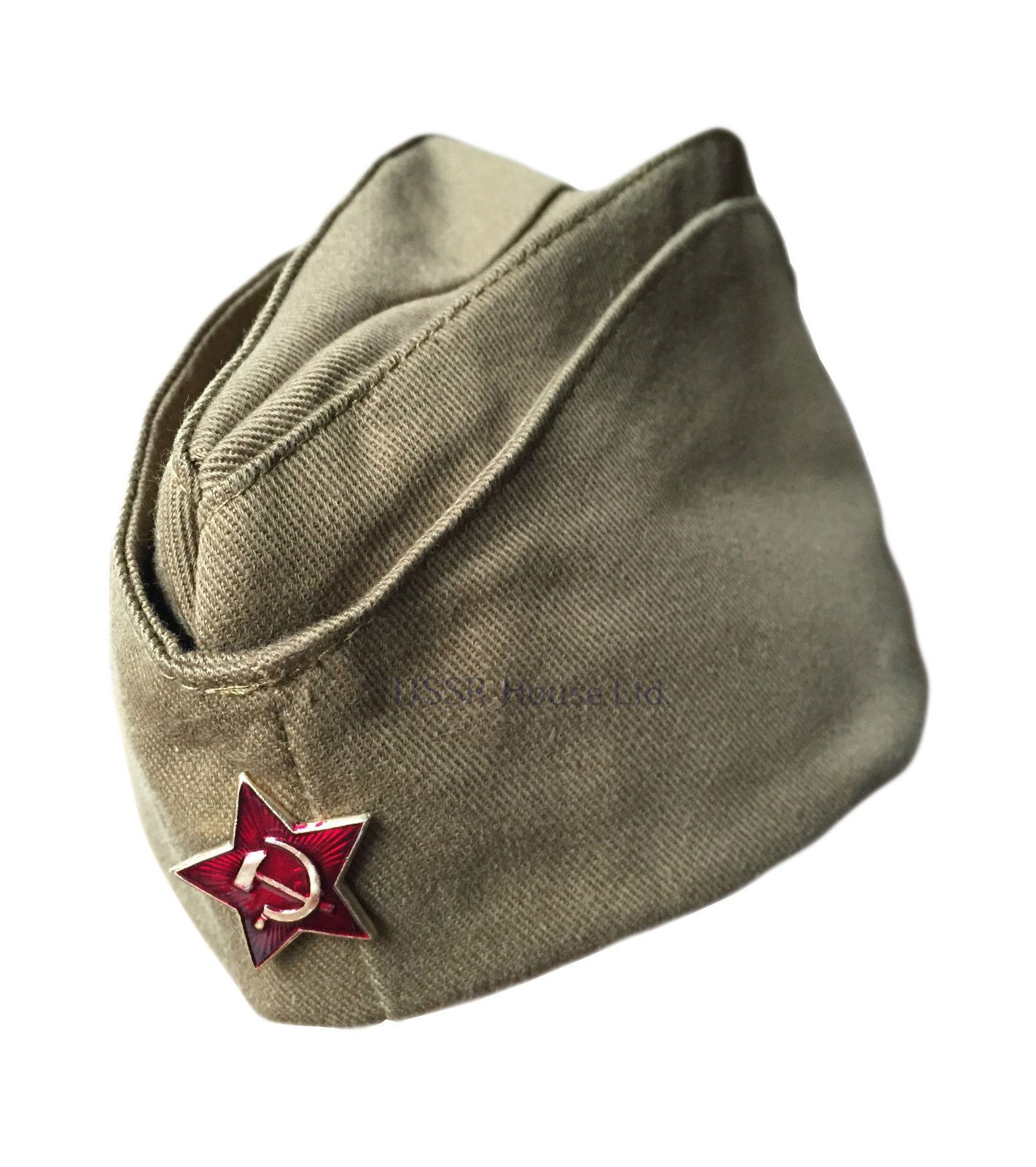 86d88a97a23 Genuine Russian Soviet USSR Red Army WW2 Military Uniform Pilotka Hat Cap  Badge