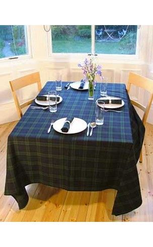 Tartan Tablecloths   MacLeod And MacKinnon Hunting Available