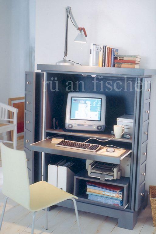 rü-an-fischer Möbeldesign Computerschrank CS-04 | Heike DIY | Pinterest