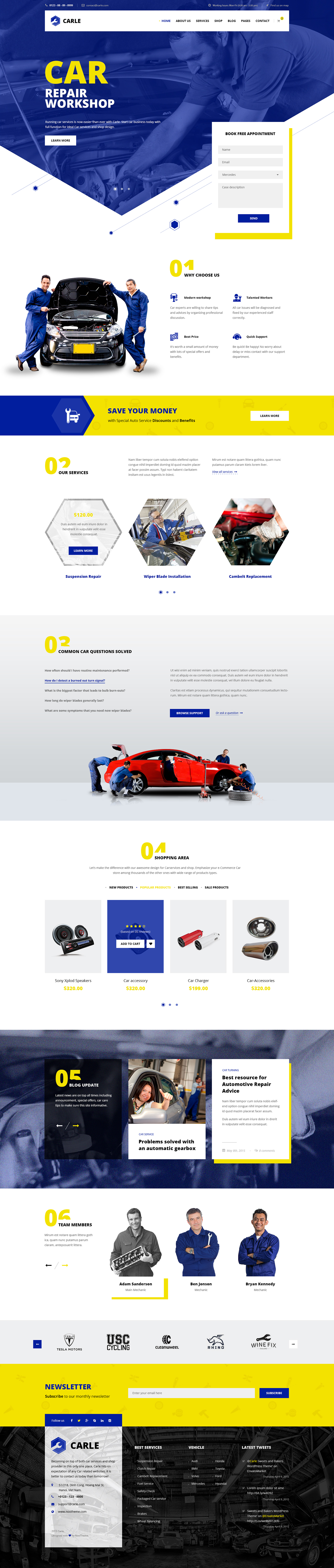 The template was built specifically for Car services include engine repair, maintenance, inspections, oil changes, brakes, tires and more with Shop integrated to sell any car related equipments.6 Homepage versions with 4 bonus headers having different a…