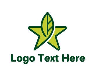 Leaf Star Logo Star Logo Logos Shop Logo