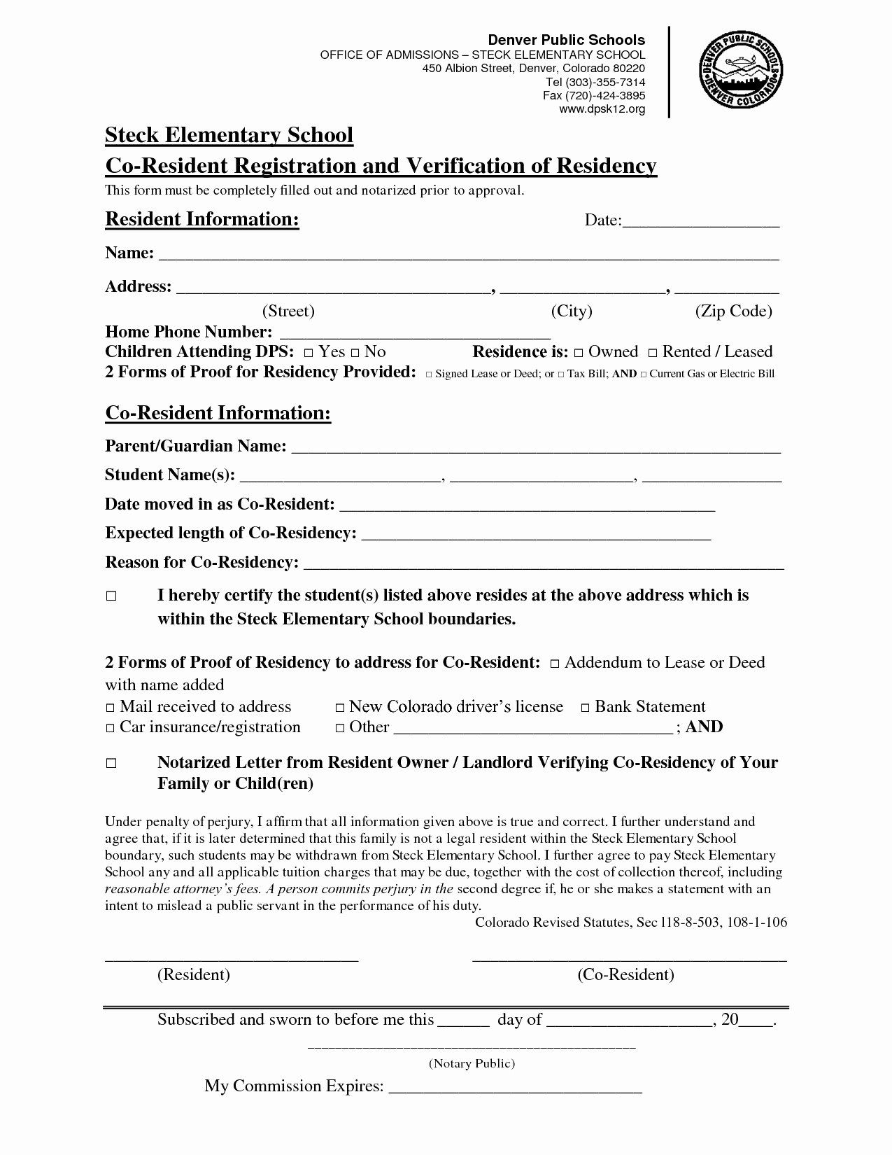 Proof Of Residency Letter Notarized Inspirational Notarized Letter Residency From Landlord Flowersheet Letter Templates Lettering Professional Letter Format