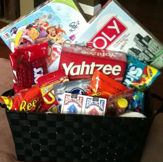 Unique Wedding Gift Basket Ideas: Board Game Goodie Basket For Gerald