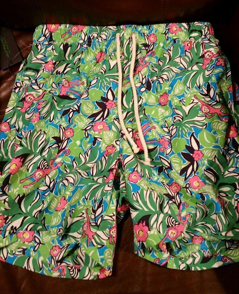 94d5dfb84d NWT LILLY PULITZER Via Palm Beach Men's Small Swim Trunks Shorts MONKEY  65715 #LillyPulitzer #Trunks