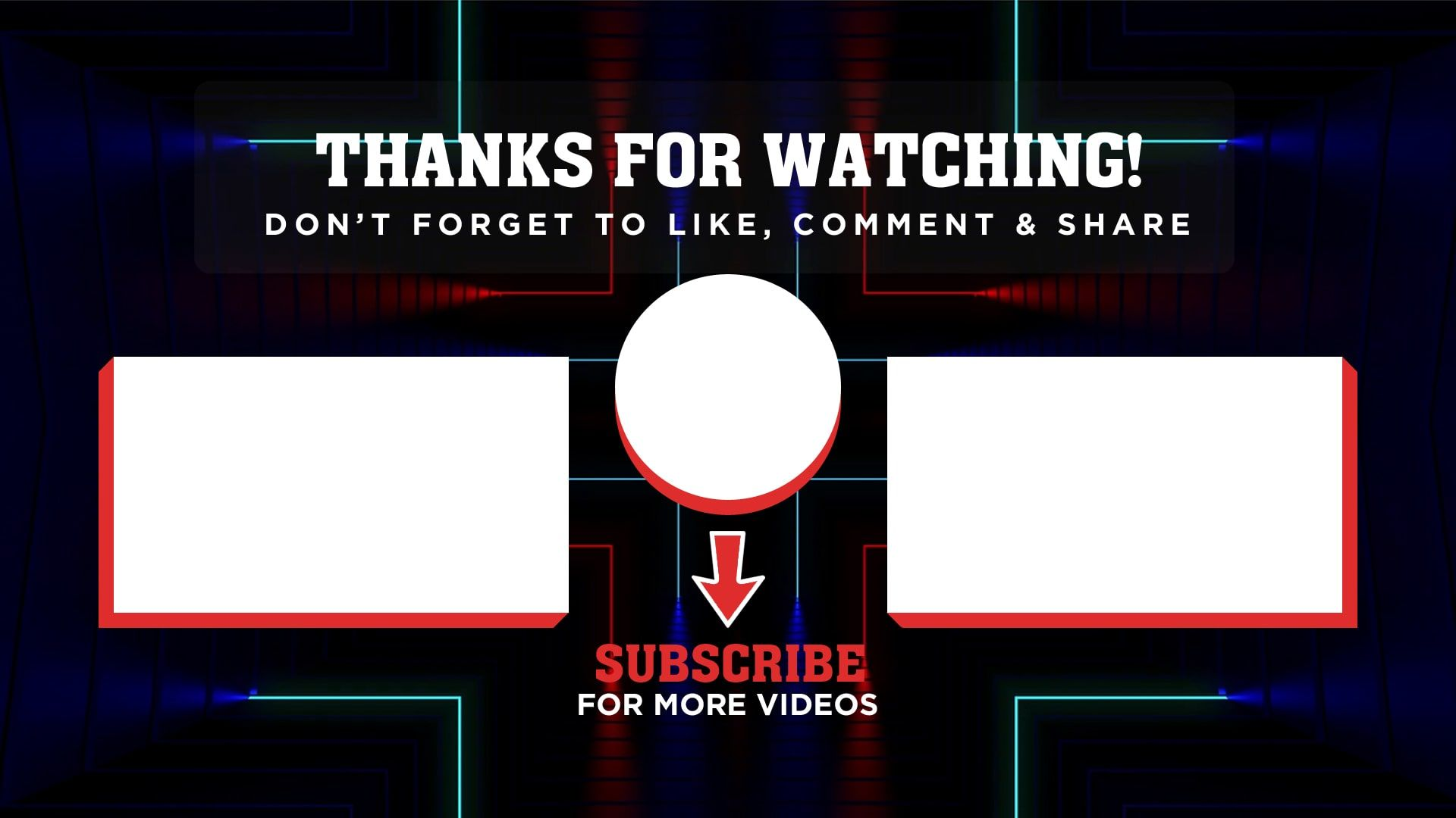 20 Free Youtube Outro Templates To Increase Watch Time Of Videos Mp4 Psd Free Youtube Youtube Banner Template Youtube Banners