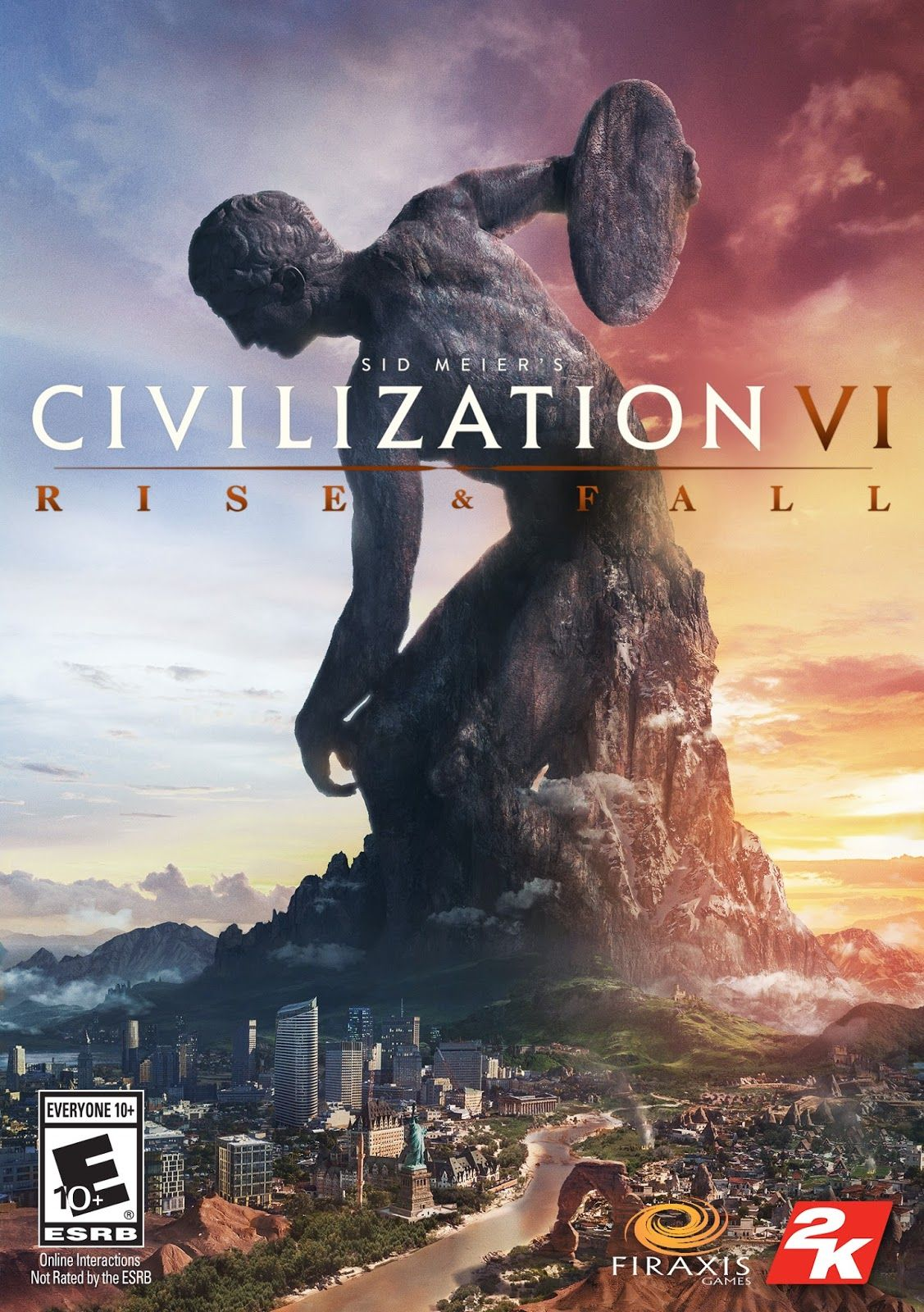 Civilization 6 Rise and Fall Game Cover PC Civilization vi