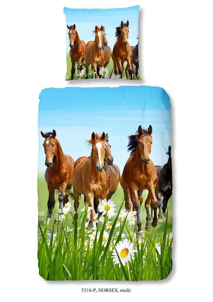 Bettwasche 135x200 Cm Baumwolle Kinder Pferd Pferde Pferdemotiv