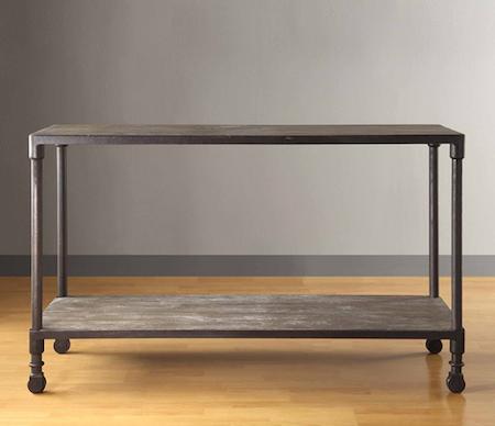 Restoration Hardware Dutch Industrial Console Table Warm
