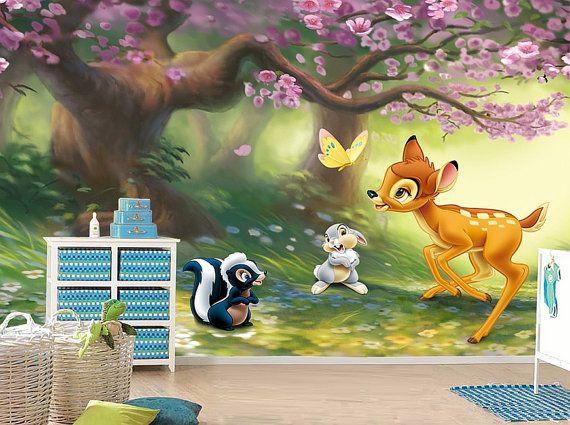 Bambi Wall mural, Wallpaper, Wall dcor, Wall decal