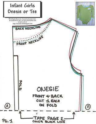 Snazzle Craft: Finally, a onesie pattern! ...and a recon too.   For ...