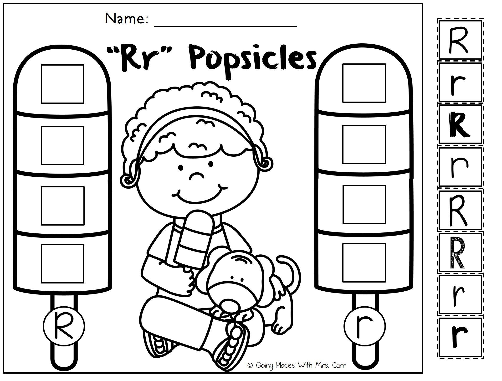 Alphabet Popsicles