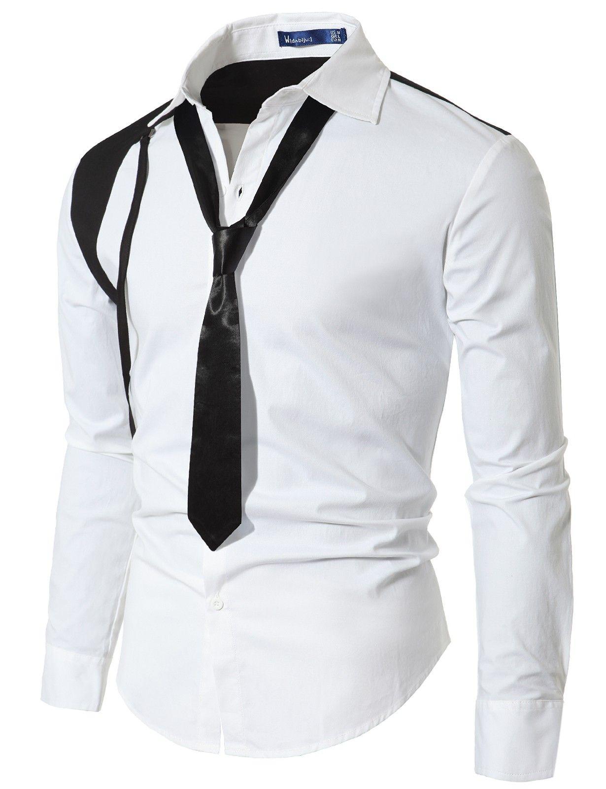 Mens Unique Shirts with Tie  doublju · Moda Para HombresLazo CasualEstilo  Casual De HombresCamisa ... 81c3e3eab83