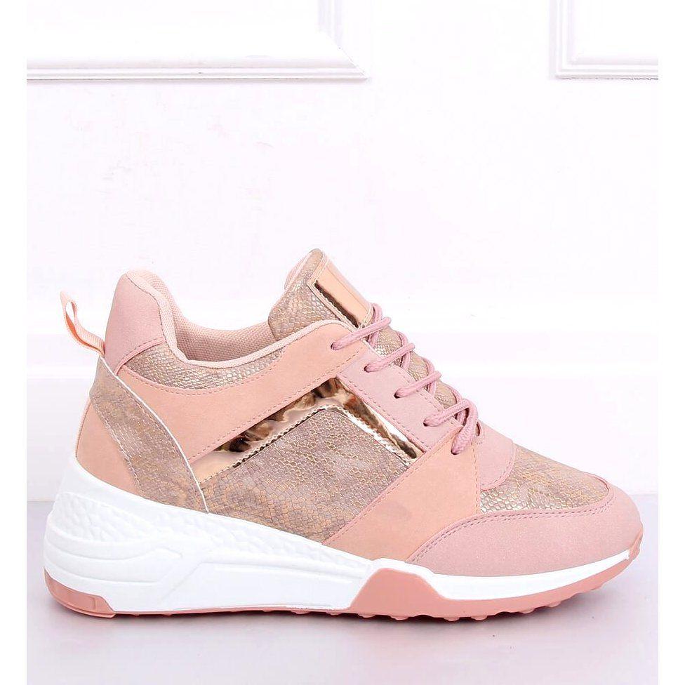 Sneakersy Na Koturnie Rozowe Yl 33 Champagne In 2020 Puma Fierce Sneaker High Top Sneakers Top Sneakers