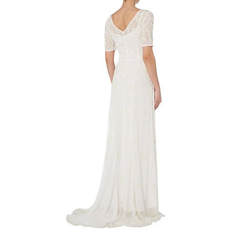 Buy Raishma Embellished Georgette Gown, White Online at johnlewis.com