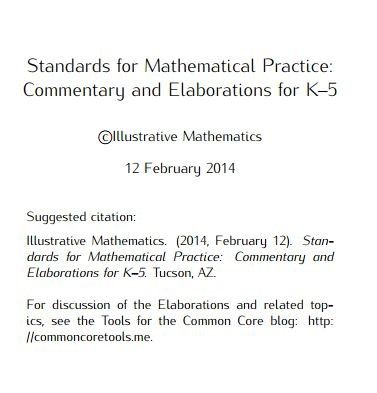 Standards for Mathematical Practice: Commentary and ...