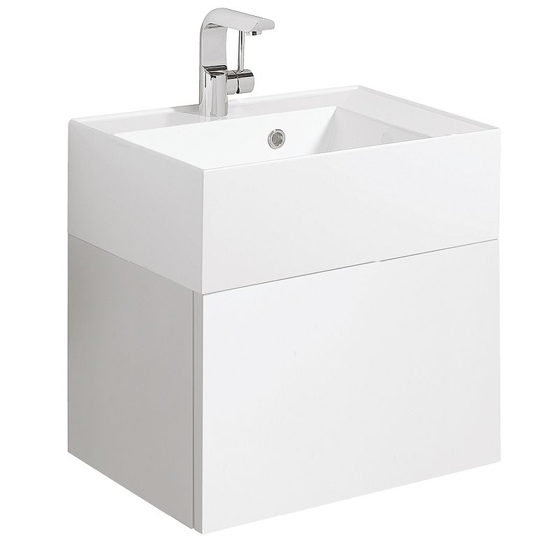 Bauhaus Elite 500mm White Gloss Single Drawer Basin Unit