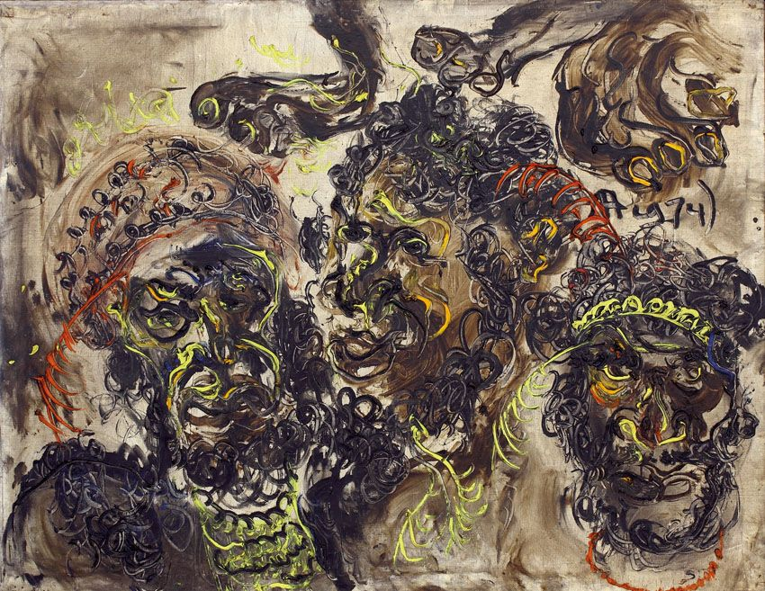 Affandi Wajah Wajah Putra Irian Artwork Painting Art