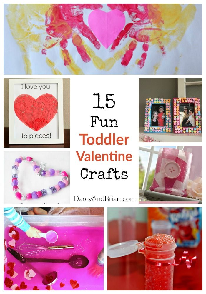 15 Fun Toddler Valentine Crafts | Darcy & Brian - Featured at the Home  Matters  Linky Party120