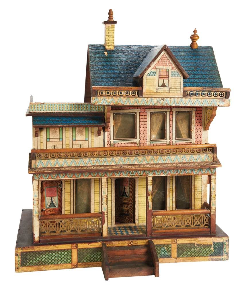 R Bliss Usa Wooden Dollhouse With Elaborate Porches And Balcony
