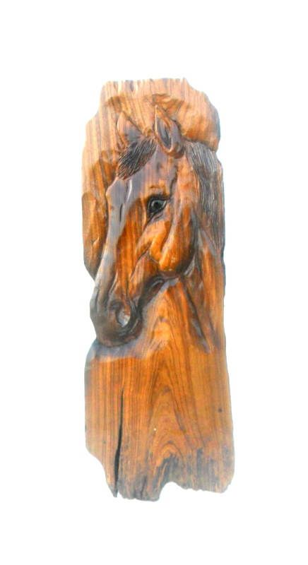 Rustic Handcrafted wooden Horse Face Statue Horse Head Stand Sculpture Home Decor Table decor Figure