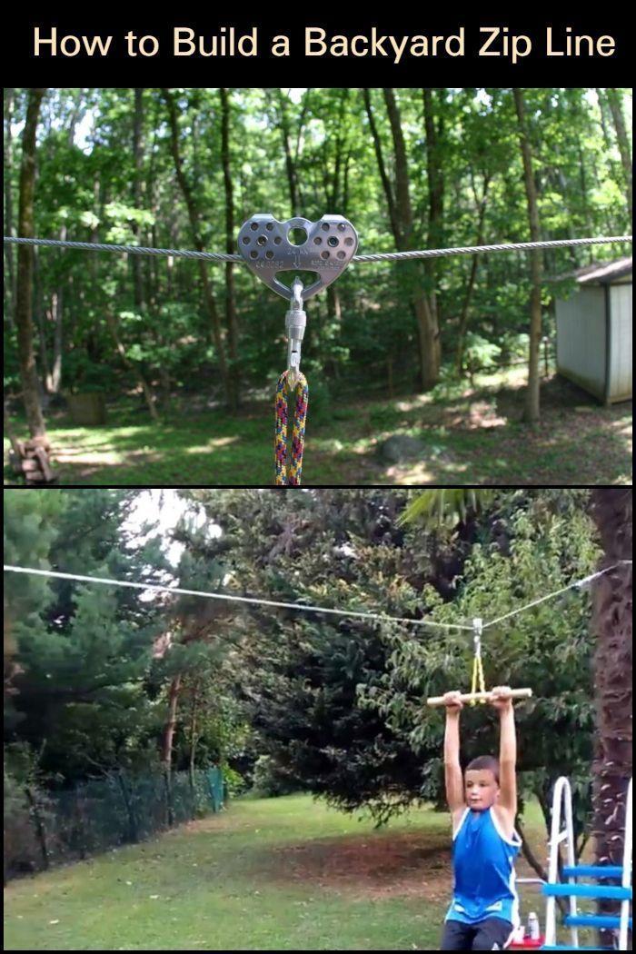 How to Build Your Own Backyard Zip Line   Ziplining, Zip ...