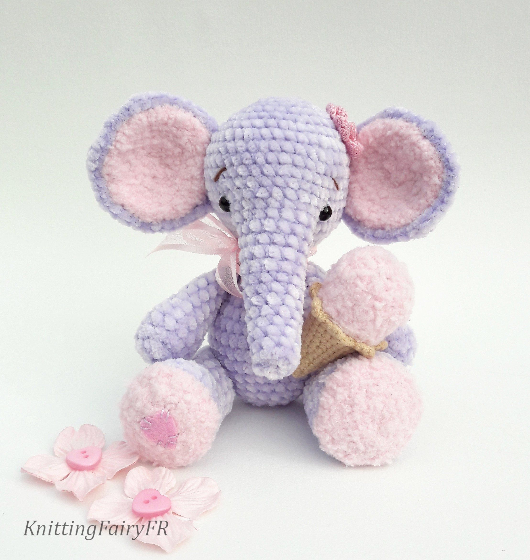 Crochet Elephant Amigurumi Easy Video Instructions | 2344x2216