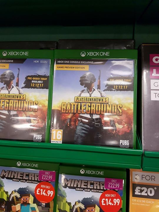 PUBG spotted in Xbox One form O (With images) Xbox one