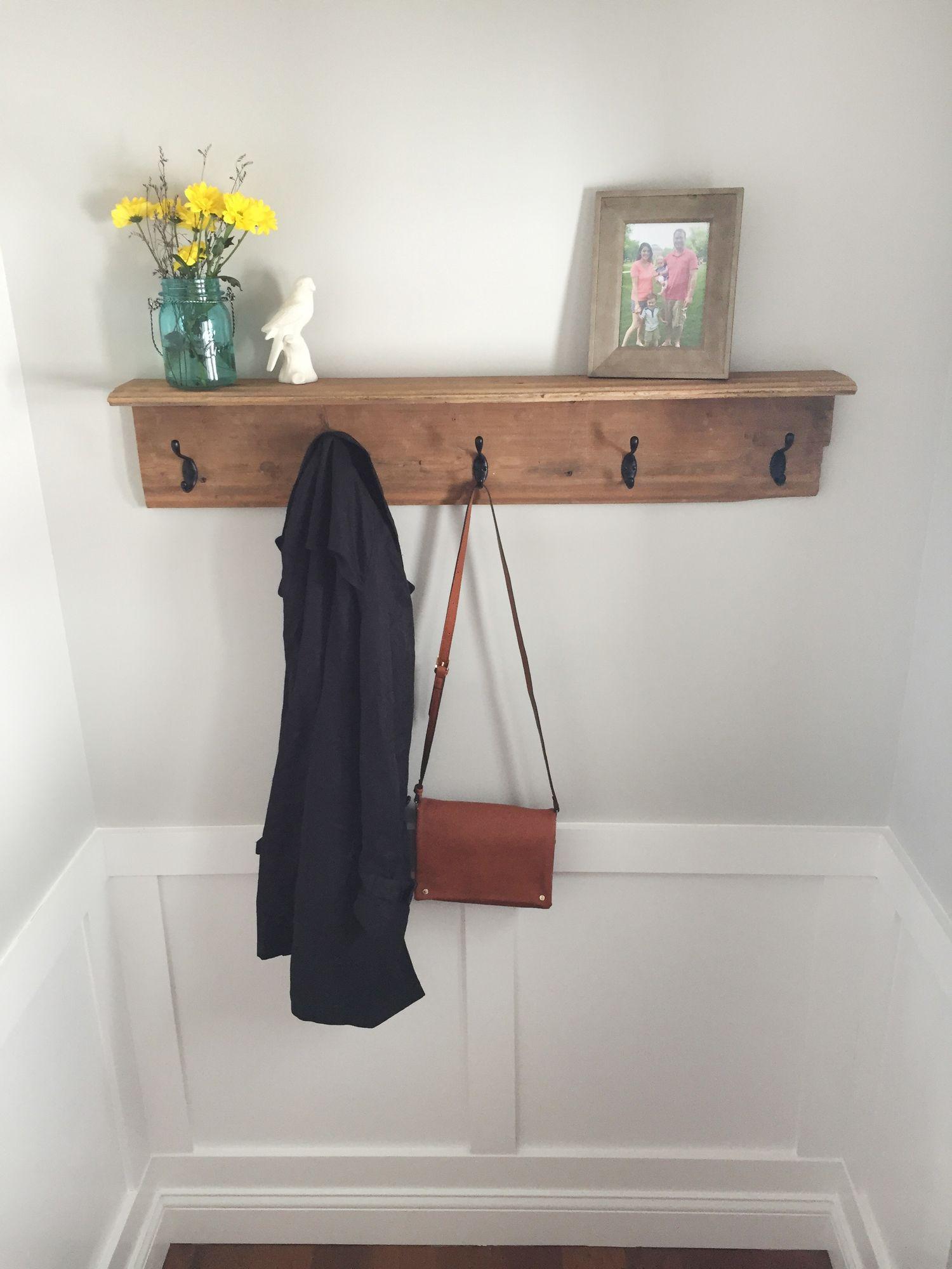 How To Build A Farmhouse Coat Rack Coat Rack Wall Entryway Diy