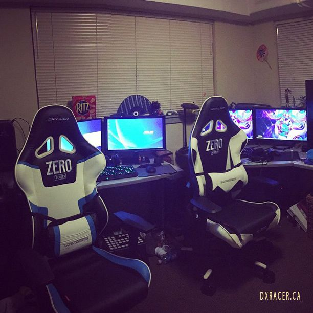 Our gaming set up:) #cosplay #figures #vegeta #dualmonitors #setup #gamingsetup #pcsetup #videogames #competitivegamer #streamer #girl #asus #dxracer #badass #gamercouple #couple  DXRacer Canada ph: 1 877 857 9609 http://www.dxracer.ca/ Strong and Comfortable Computer, Gaming and Office Chairs