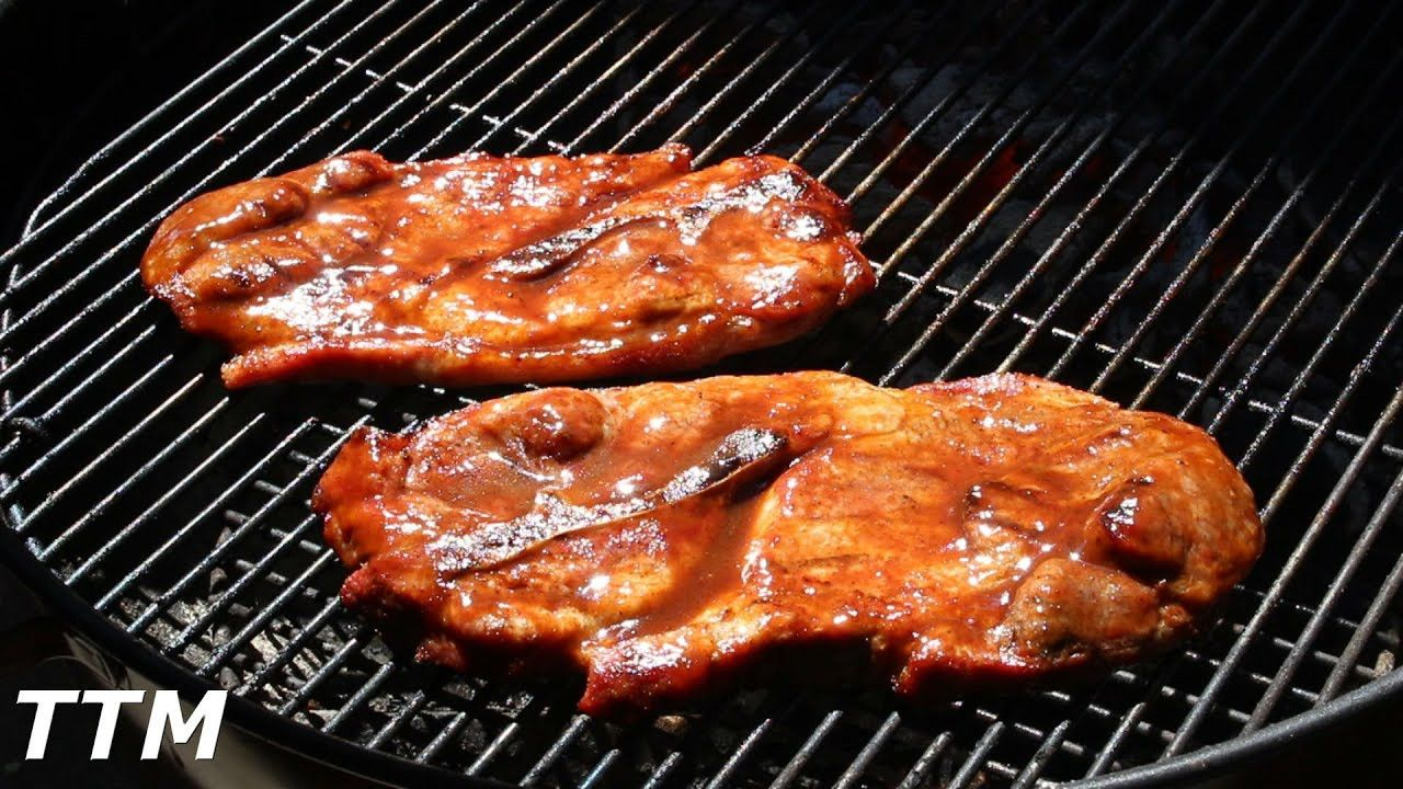 how to grill pork steaks on propane grill
