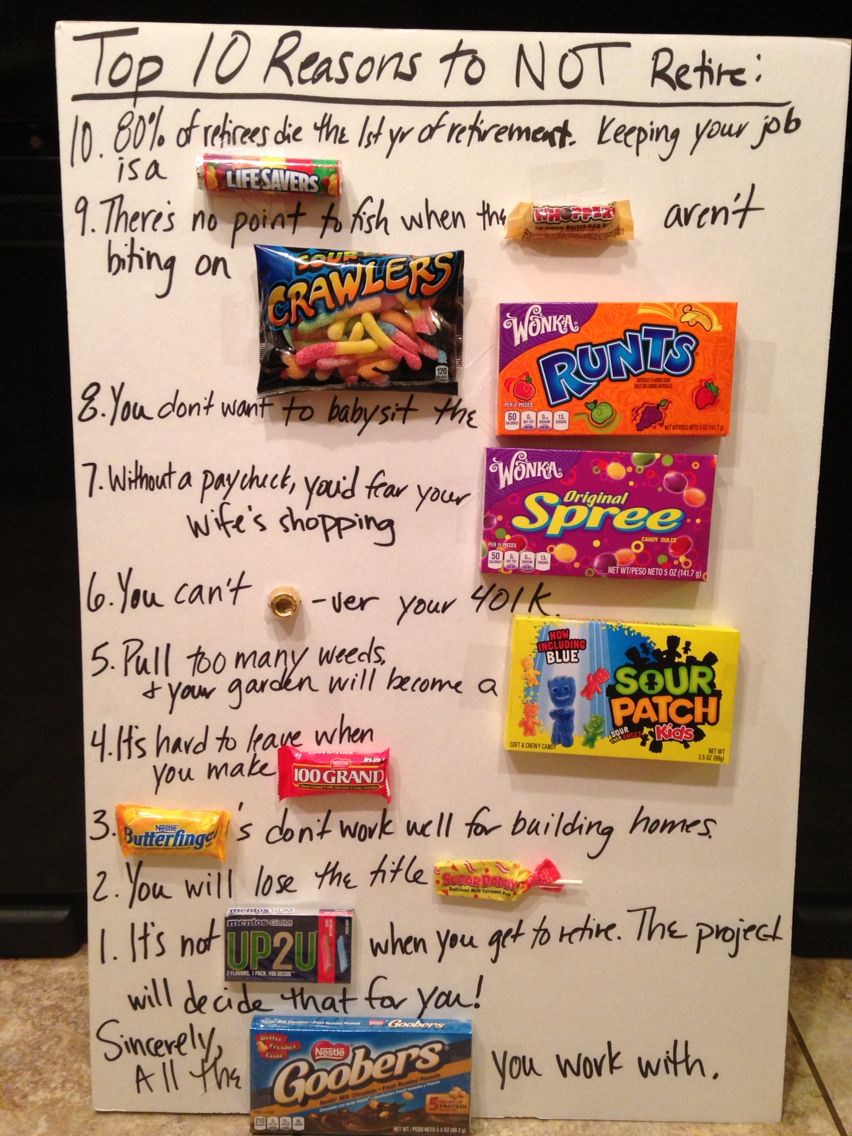 10 Reasons to NOT Retire Candy board, 10 things, Life savers