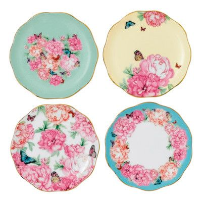 4 Piece Grace Plate Set Set Of 4 Miranda Kerr Royal Albert Royal Albert Tea Sets