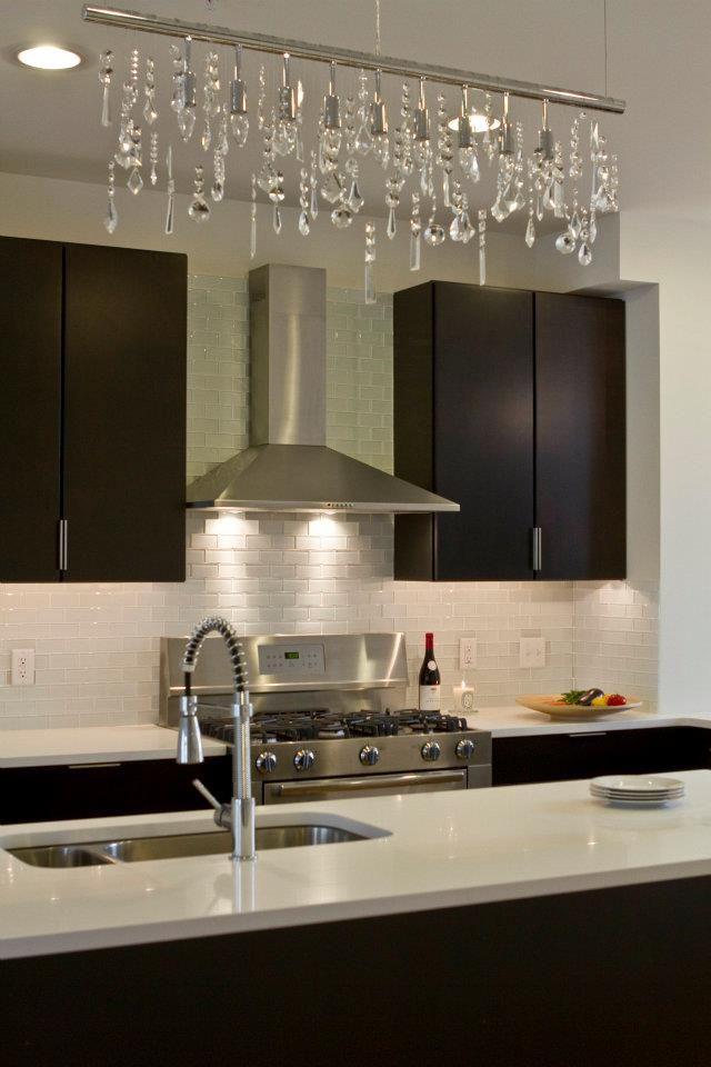 Espresso Cabinets White Quartz And Crystals Interiors By House Design Philadelphia Pa